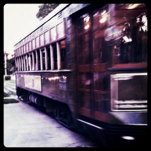 The New Orleans Streetcar in Motion