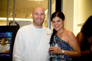 Top Chef Hosea Rosenberg and ACS Hope Gala Volunteer Lorena Poche