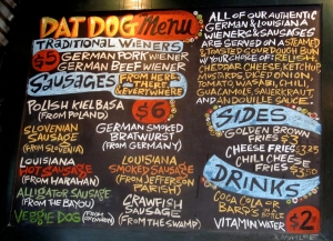 Dat Dog Menu