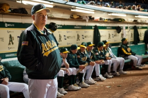 "The Oakland A's are the team in focus in ""Moneyball."""