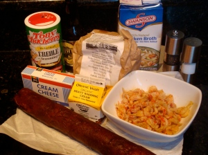 Crawfish and Andouille Sausage Grits Ingredients