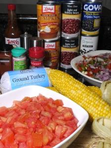 Pumpkin Turkey Chili Ingredients