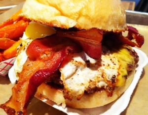 Company Burger with Bacon and Yard Egg