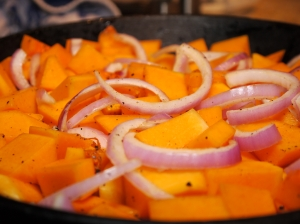 Butternut Squash and Red Onion