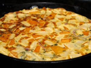 Butternut Squash Frittata with Sage and Emmentaler Cheese
