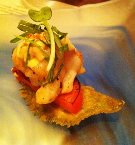 Shiso Tempura with Grilled Lobster