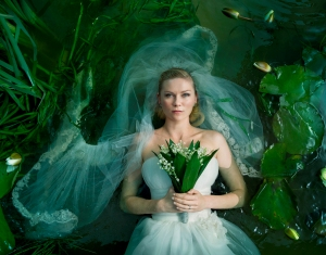 Kirsten Dunst as bride Justine in Melancholia