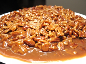 Salted Caramel Upside-Down Pecan Pie