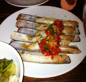 Razor Clams at Toro