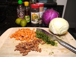 Spicy Asian Coleslaw Ingredients