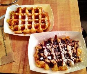 Waffles at Saus