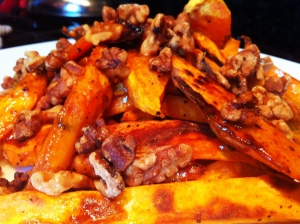 Roasted Sweet Potato Wedges with Walnuts