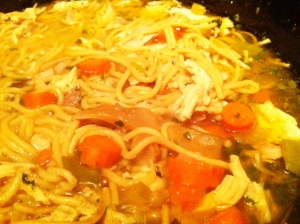 Chicken Noodle Soup Close-Up