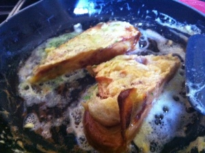King Cake French Toast in the Pan