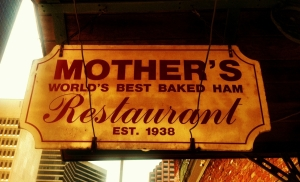 Mother's Restaurant Sign