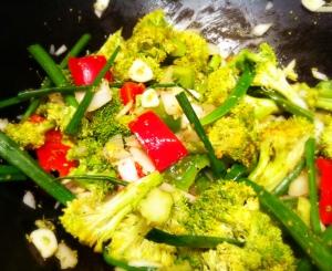 Veggies for Cashew Chicken