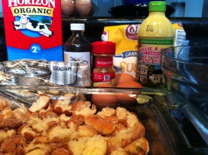 Key Lime Bread Pudding Ingredients