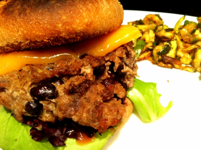 Black Bean-Turkey Burger
