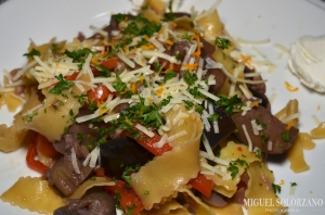 Pappardelle with Eggplant and Mushroom Ragu