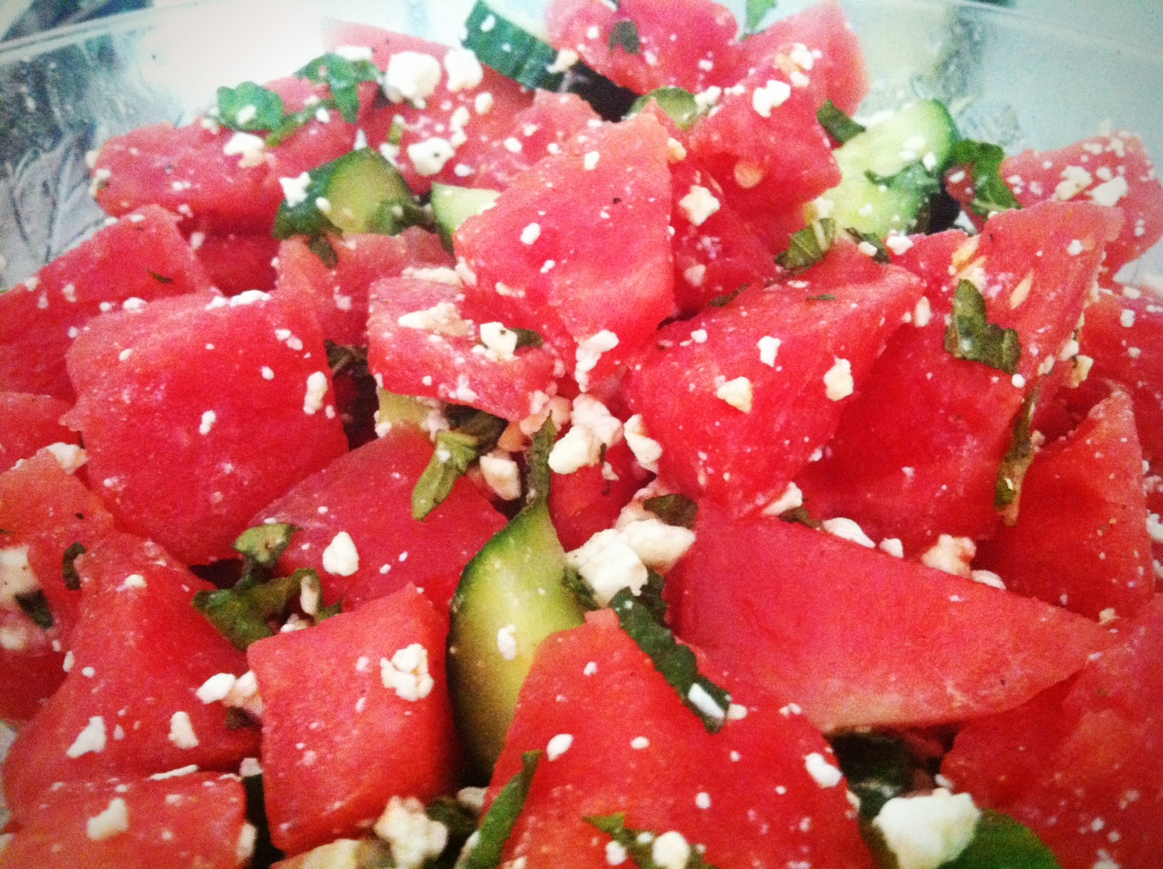 Recipe: Watermelon, Cucumber and Feta Salad | Po' Boy Livin' Rich