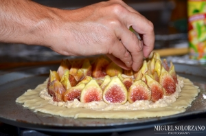 Assembling the Fig Tart