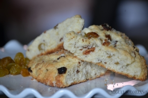 Golden Raisin and Bacon Scones