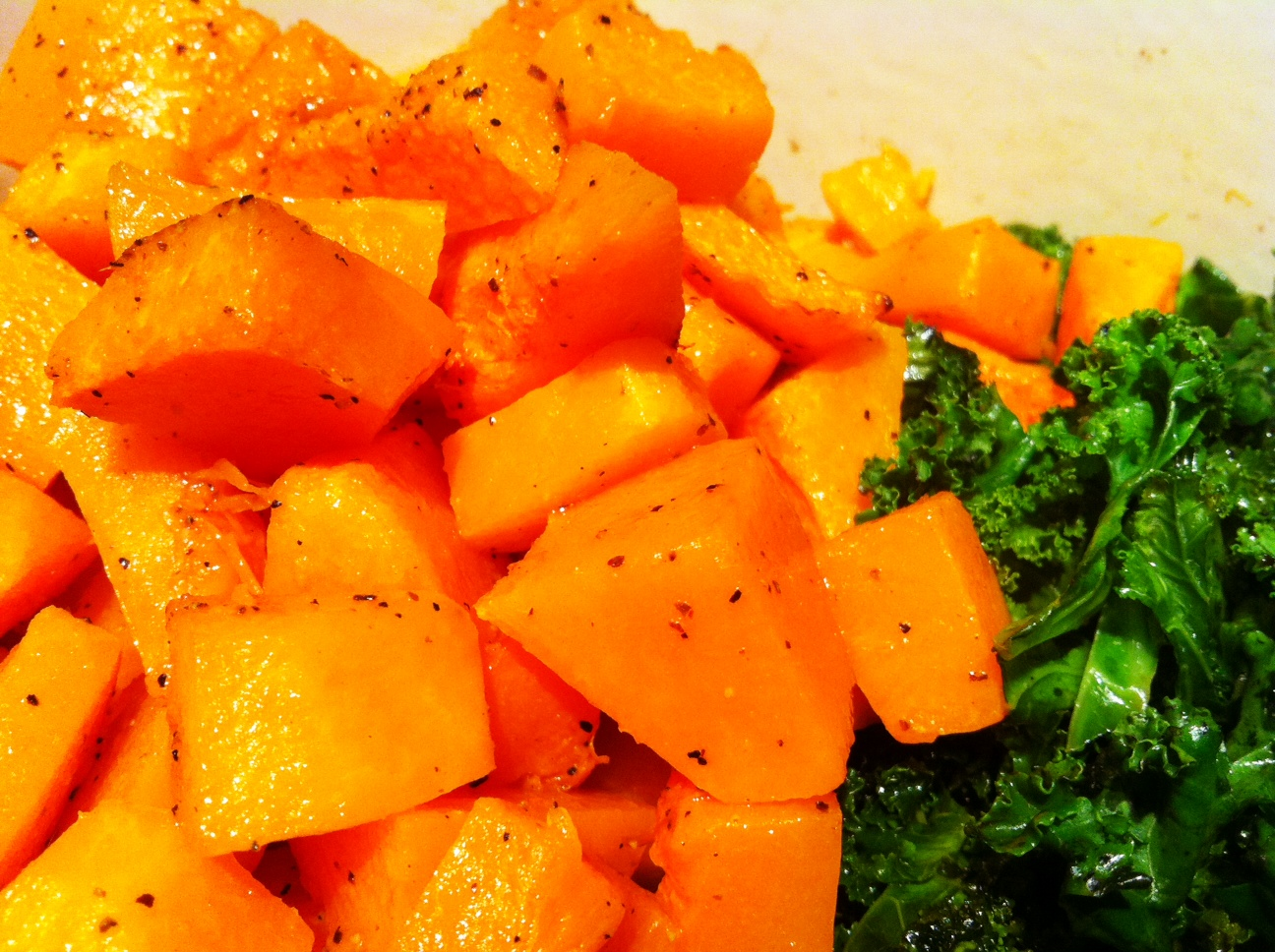 Recipe: Butternut Squash and Kale Salad   Po' Boy Livin' Rich