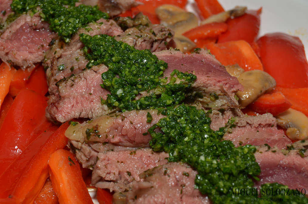 Recipe: Flank Steak with Chimichurri Sauce | Po' Boy Livin' Rich