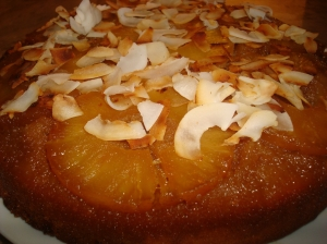 Coconut-Pineapple Upside-Down Cake