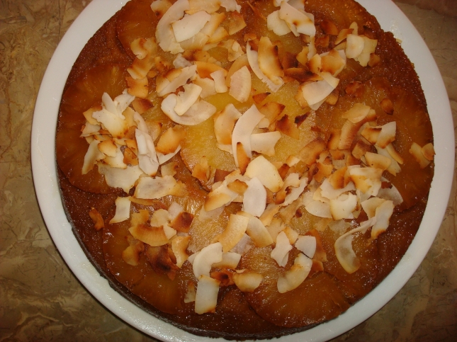 Coconut-Pineapple Upside-Down Cake