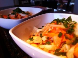 Silken Tofu with Kimchi