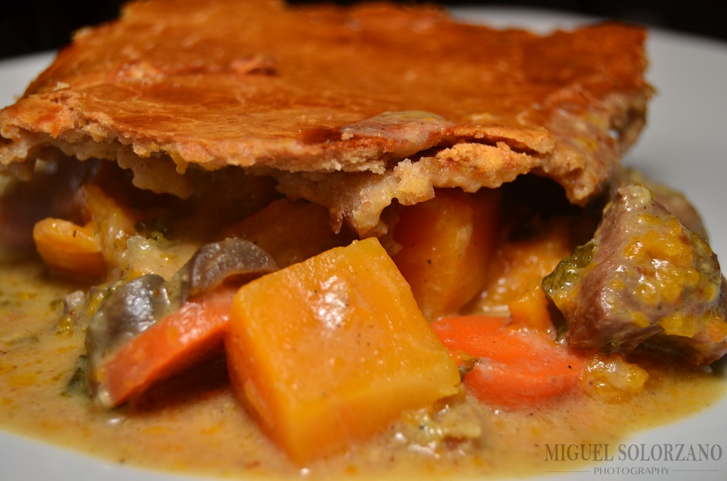 ... and coconut milk to make this delicious Curried Leg of Lamb Pot Pie