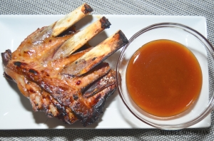 Plum Sauce and Honey-Glazed Spareribs
