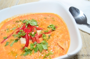 Chickpea, Piquillo Pepper and Chicken Soup