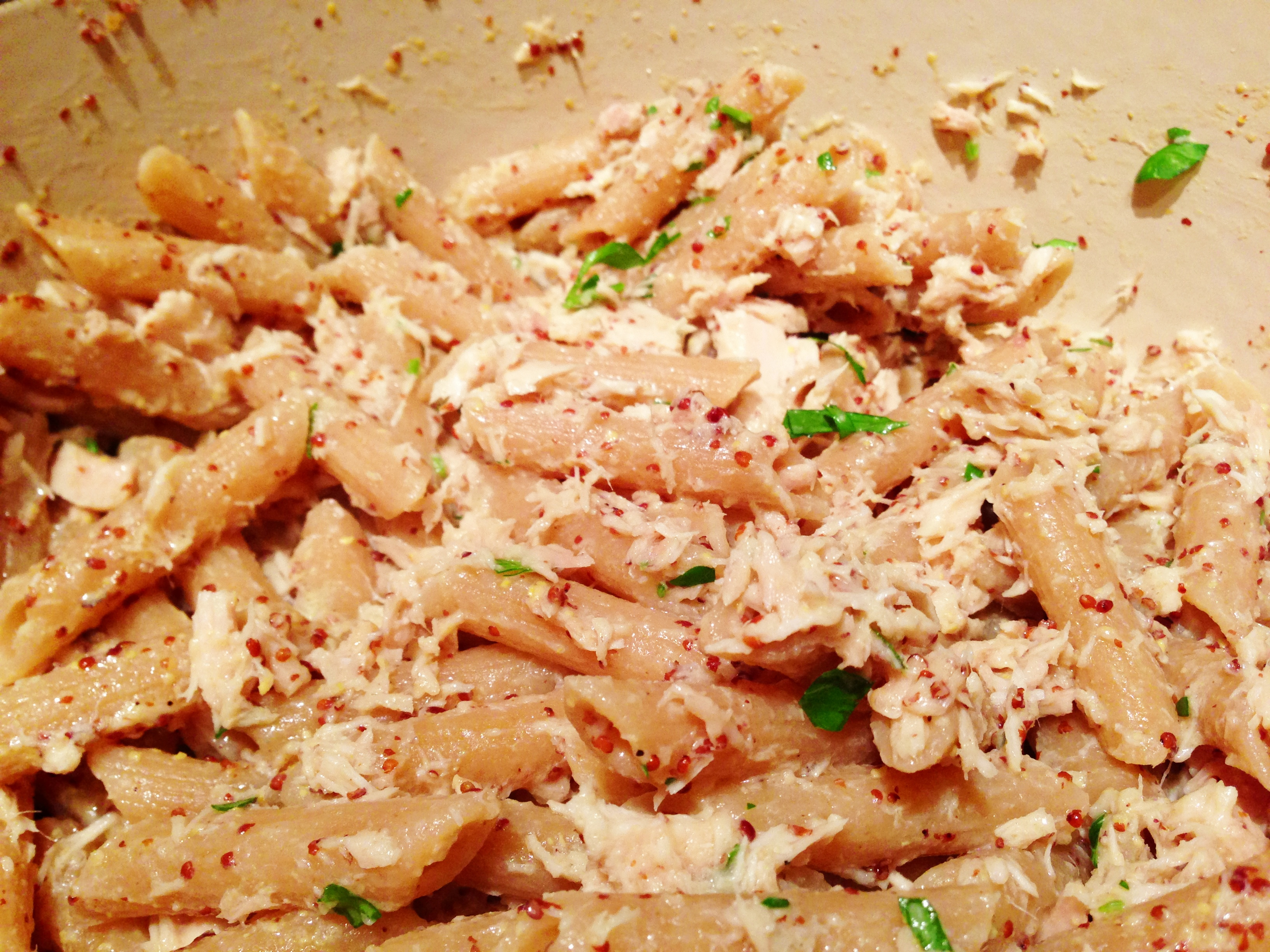 Recipe: Tuna and Spicy Mustard Penne Pasta | Po' Boy Livin' Rich