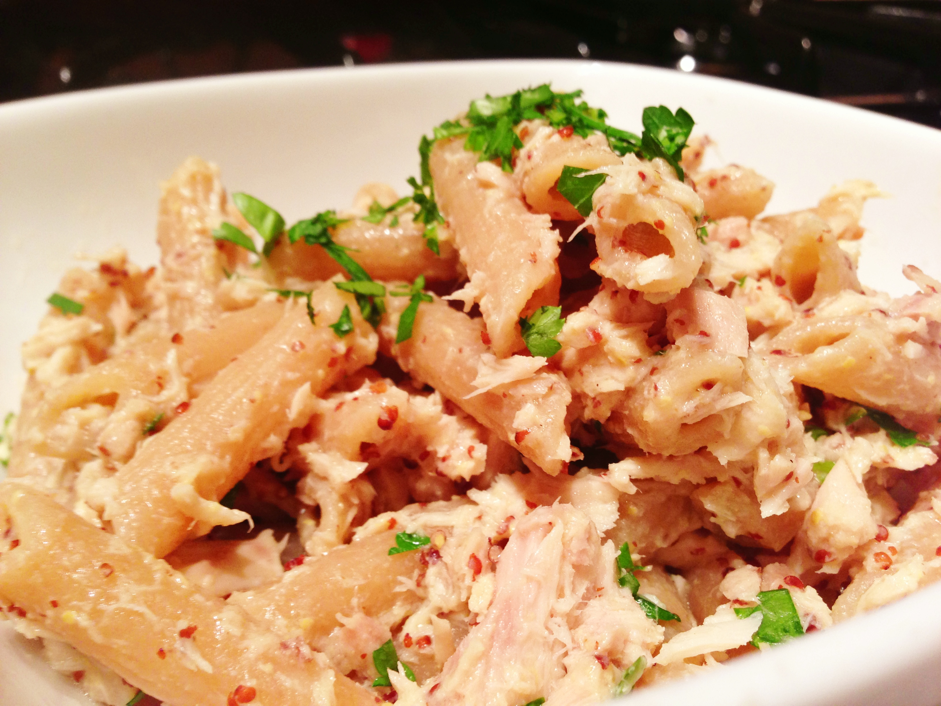 Penne With Tuna And Spicy Mustard Recipe — Dishmaps