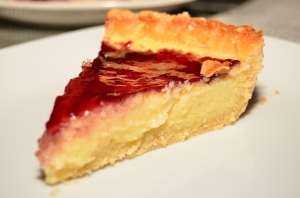 Buttermilk Pie with Blackberry Jame